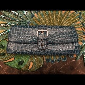 Blue handbag!